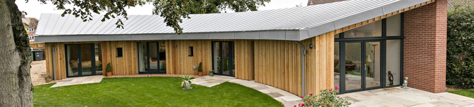 Bungalow built with Celcon Blocks to Passivhaus standards