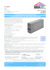 BBA 01-3816 Celcon Blocks High & Super Strength Grades