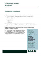Sustainable Applications