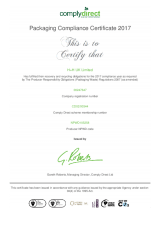 Packaging Compliance Certificate (2017)