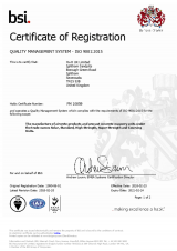 BSI Certificate of Registration ISO 9001 - QMS FM 10059