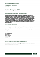 Modern Slavery Statement April 2019