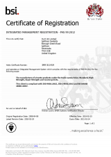 BSI Certificate of Registration PAS 99:2012