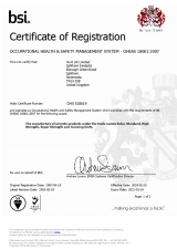BSI Certificate of Registration OHSAS 18001:2007