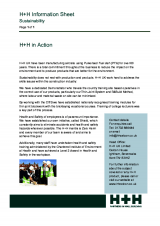 H+H in Action (Sustainability)