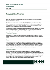Recycled Raw Materials (Sustainability)